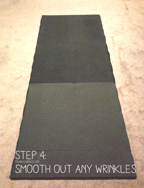 Pin it! How to make a hard surface yoga platform.