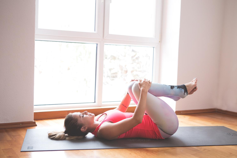 Yoga for low back   Wearing:  Sweaty Betty top  ,  Teeki pants  .