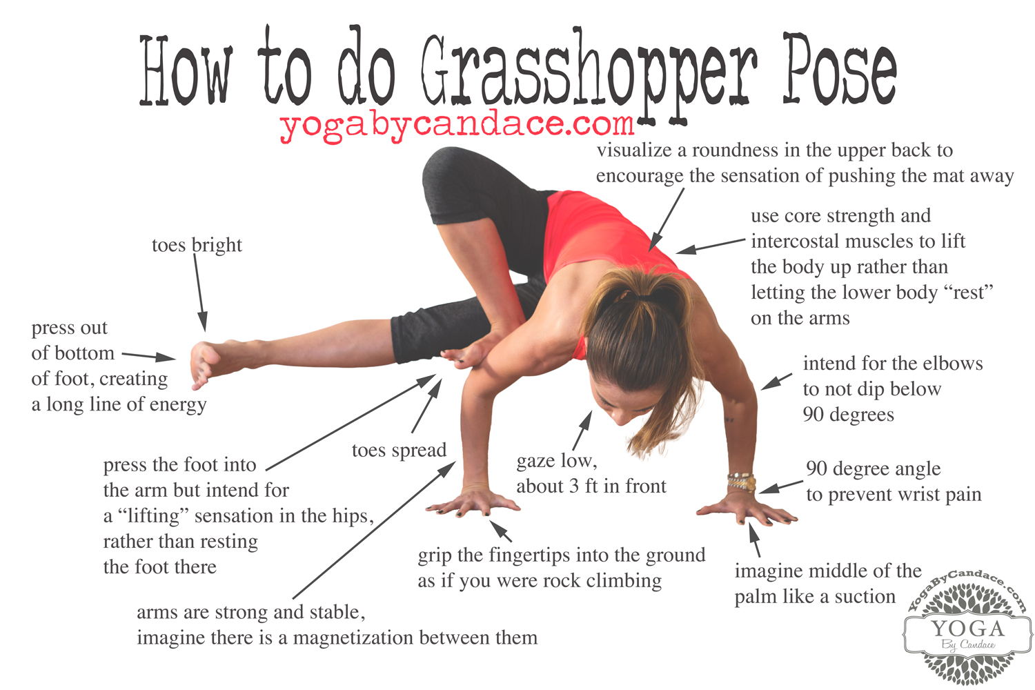 Pin now, practice later! How to do grasshopper pose.  Wearing:  Zella leggings ,  Sweaty Betty tank