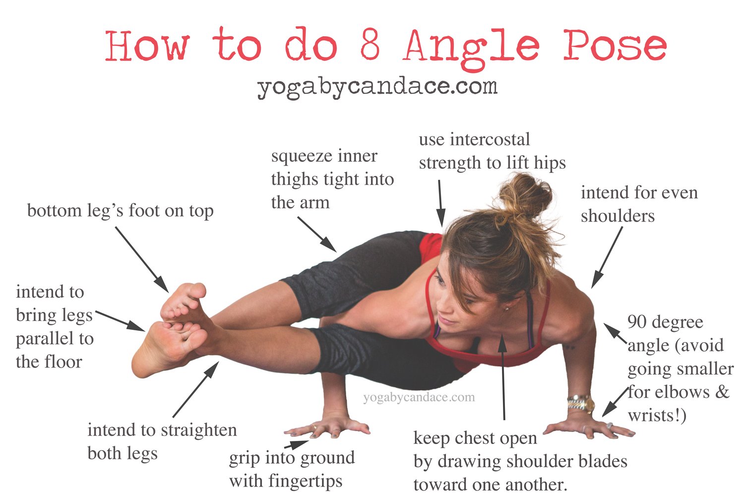 Pin now, practice 8 angle pose later!   Wearing:  zella live-in leggings , forever 21 tank ( similar ).