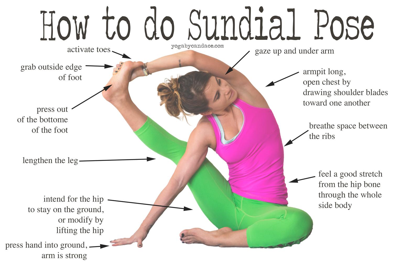 Pin now, practice sundial pose later!  Wearing:  Kira Grace pants , lululemon top ( similar ),  polish