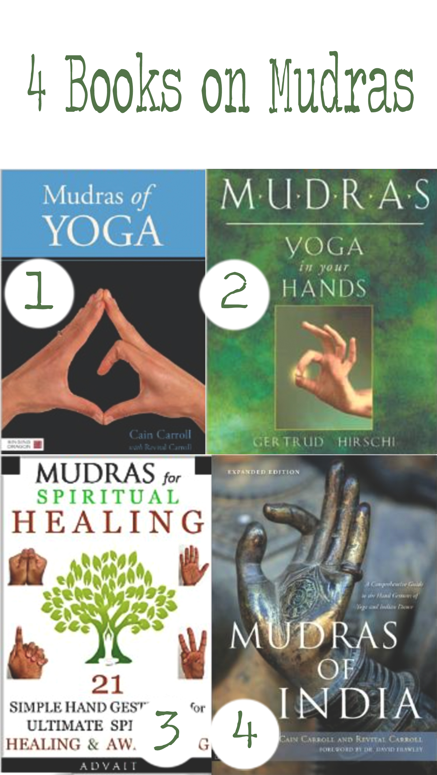 Pin it! Four books on mudras for yoga