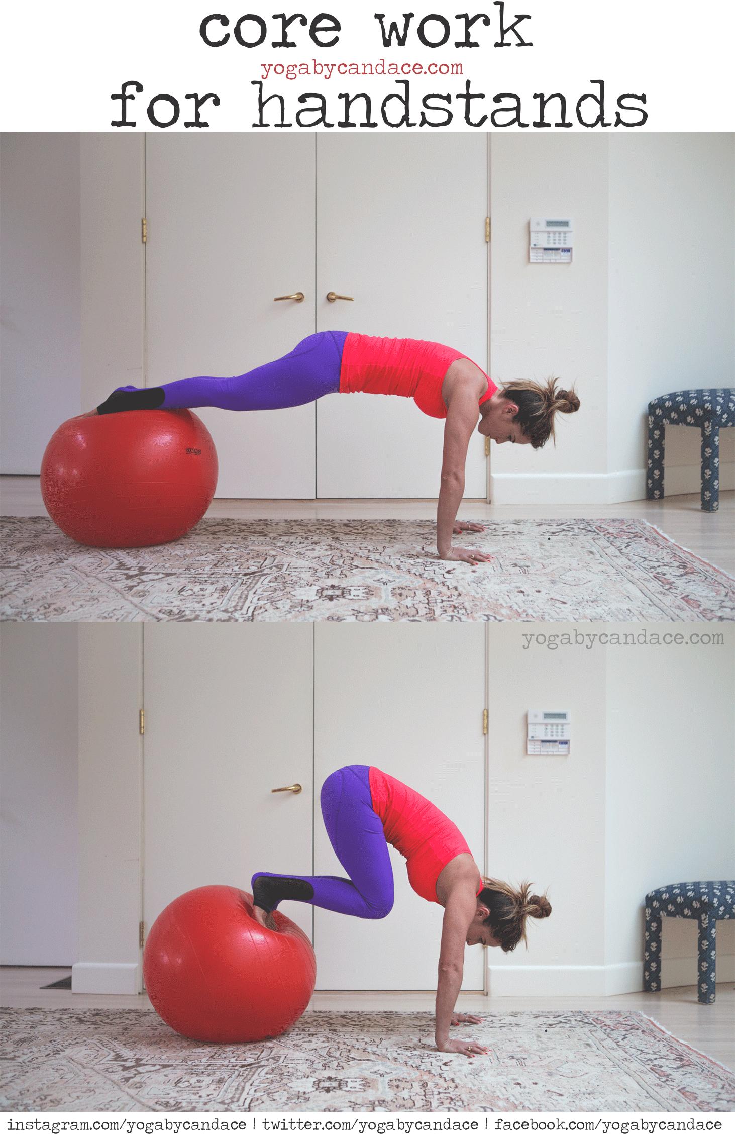 Pin now, practice core work later!  Wearing:  Nina B Roze pants , sweaty betty tank. Using:  stability ball .