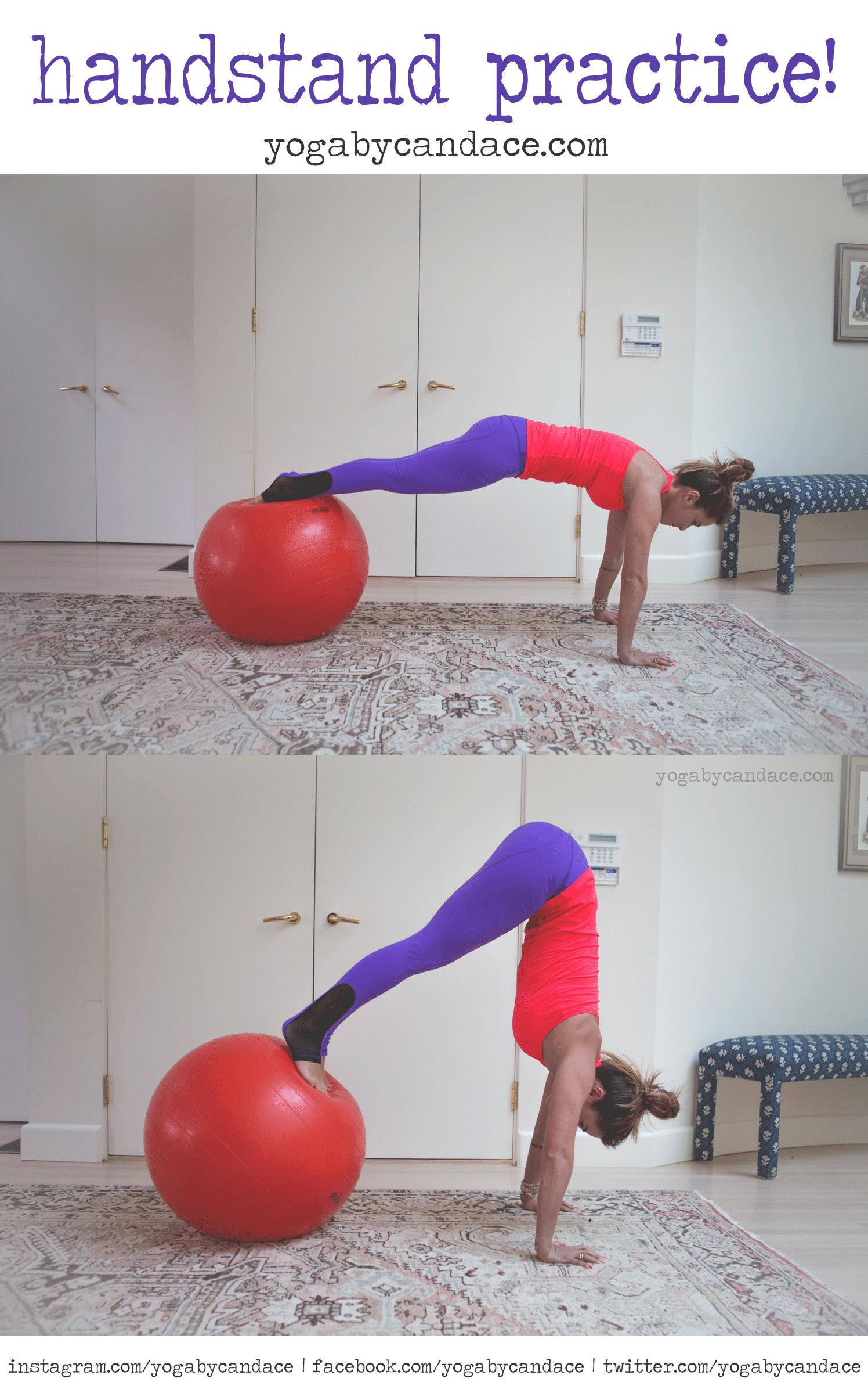 Wearing:  nina b roze pants , sweaty betty tank. Using: stability ball  .