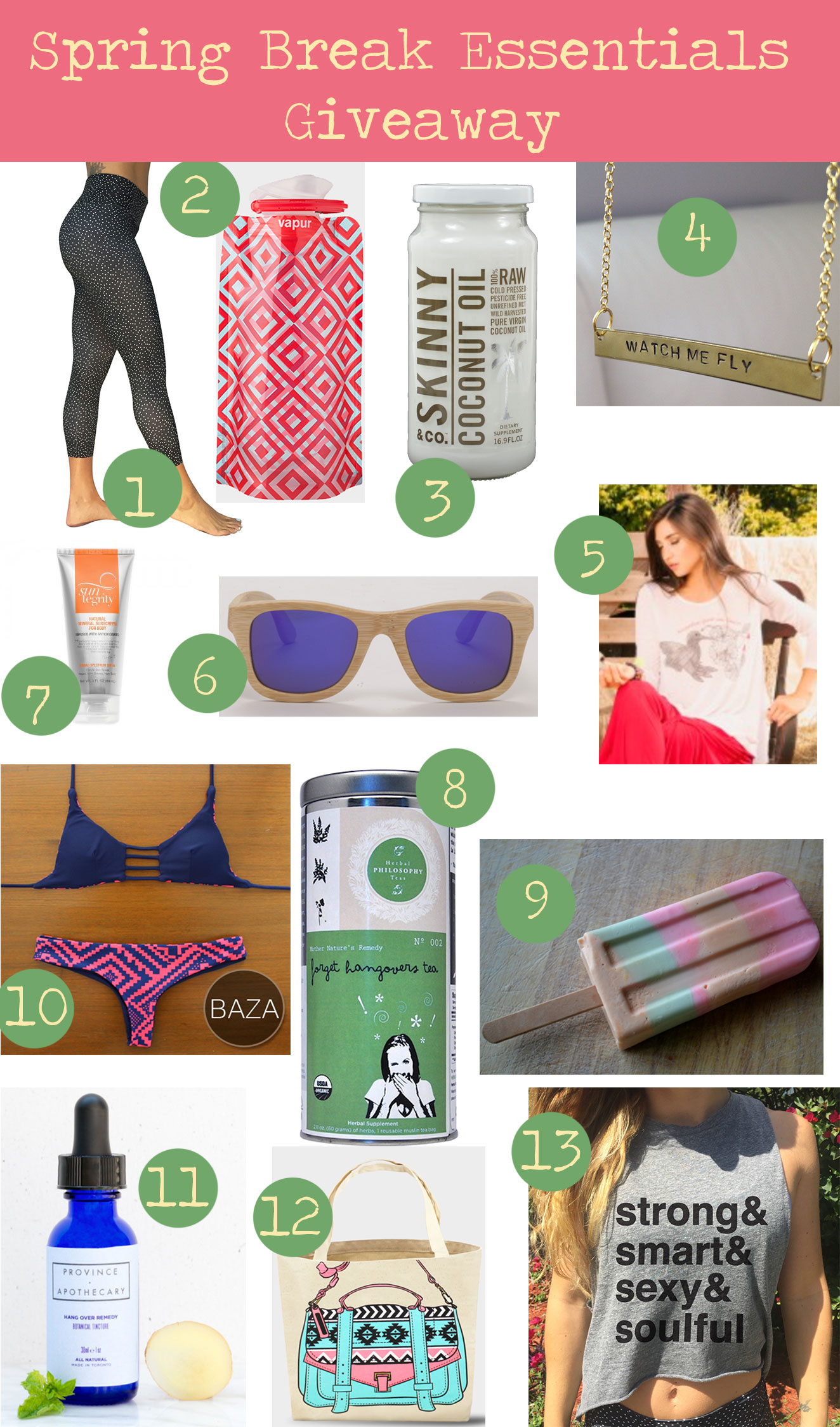 Pin now and enter to win these spring break essentials