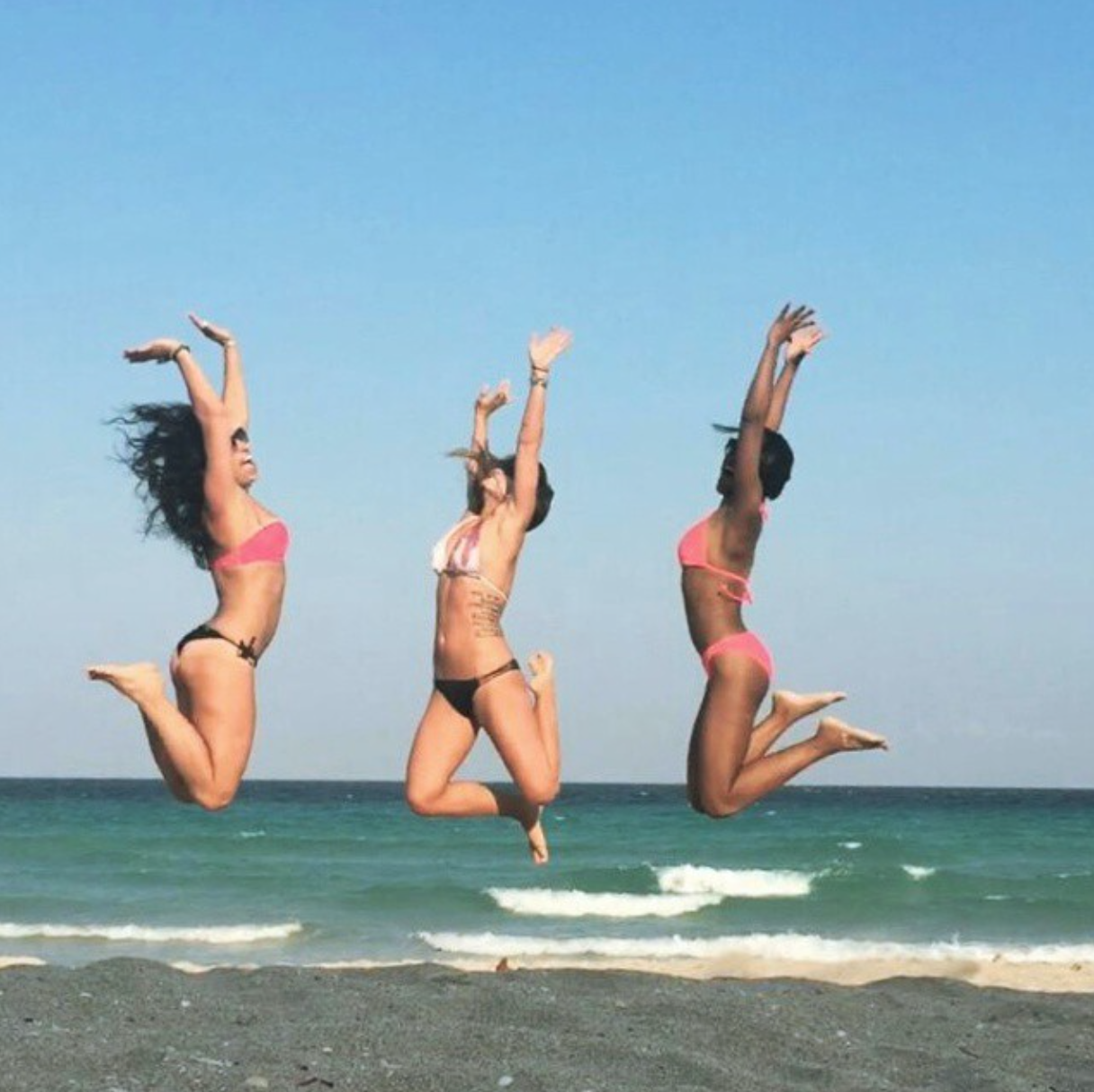 YBC Retreat in Miami  Wearing (middle):  victoria's secret bikini top  and  bottoms .