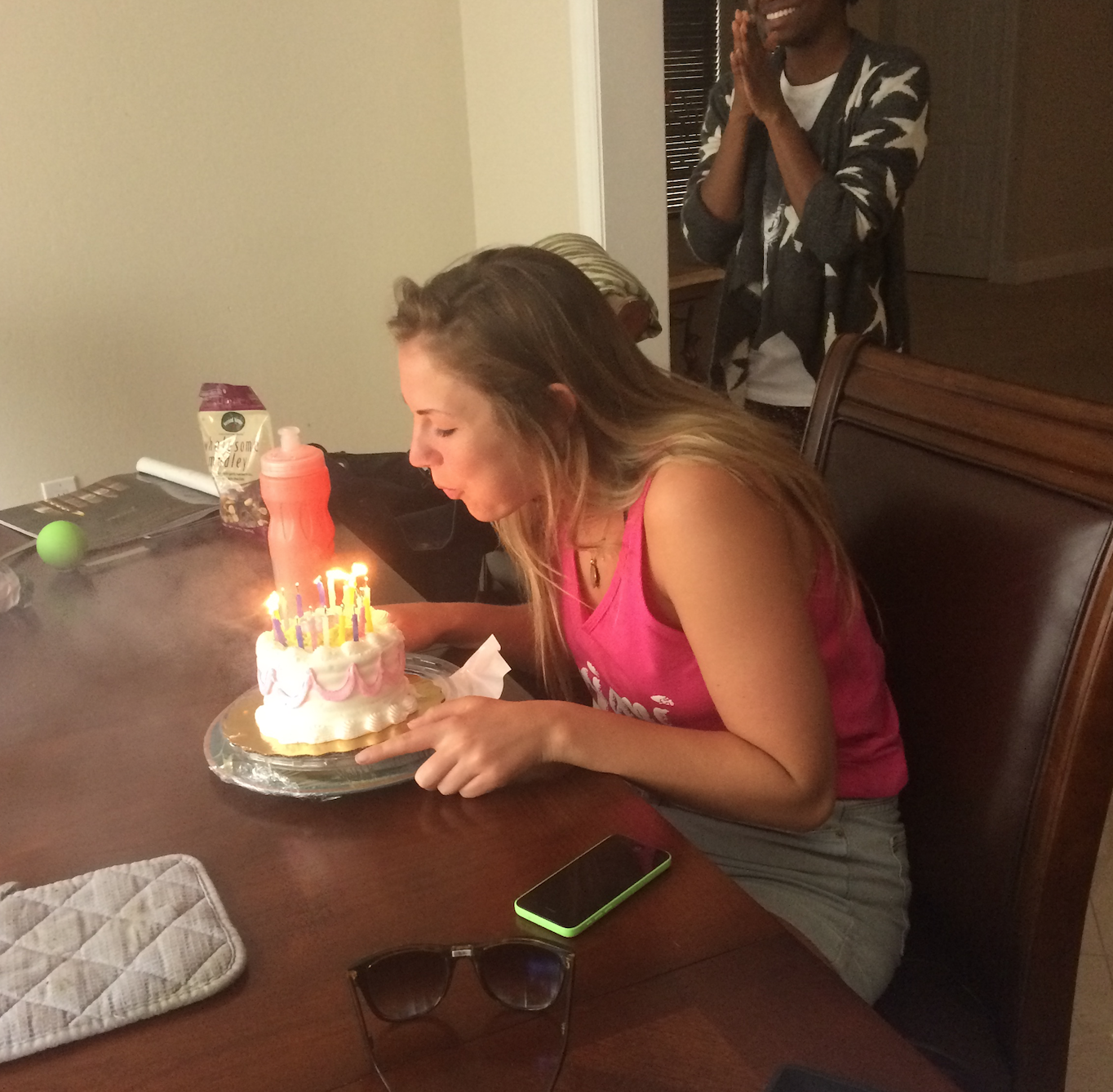We had a 21st birthday in the house!