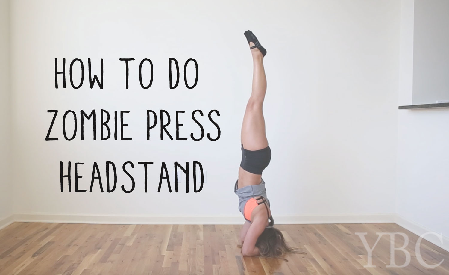 Pin now and learn how to do a zombie press headstand.  Wearing:  lululemon shorts ,  montiel activewear tank ,  onzie bra ,  great soles socks .