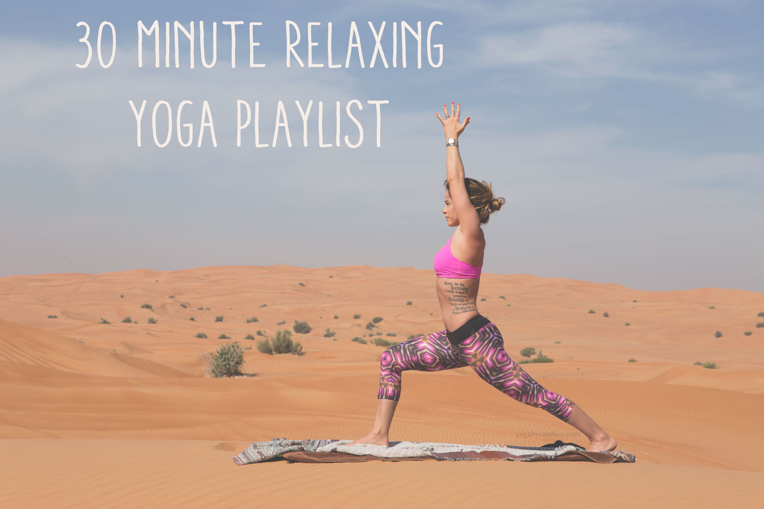 Pin now, practice yoga later with this 30 minute relaxing yoga playlist.  Wearing: pants ( same brand, diff pattern on sale ), bra ( same style, diff color )