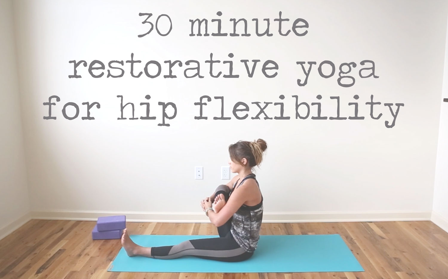 Pin now, practice restorative yoga for hip flexibility later!   Wearing:  alala leggings  &  top  c/o. Using:  blocks ,  jade yoga mat .