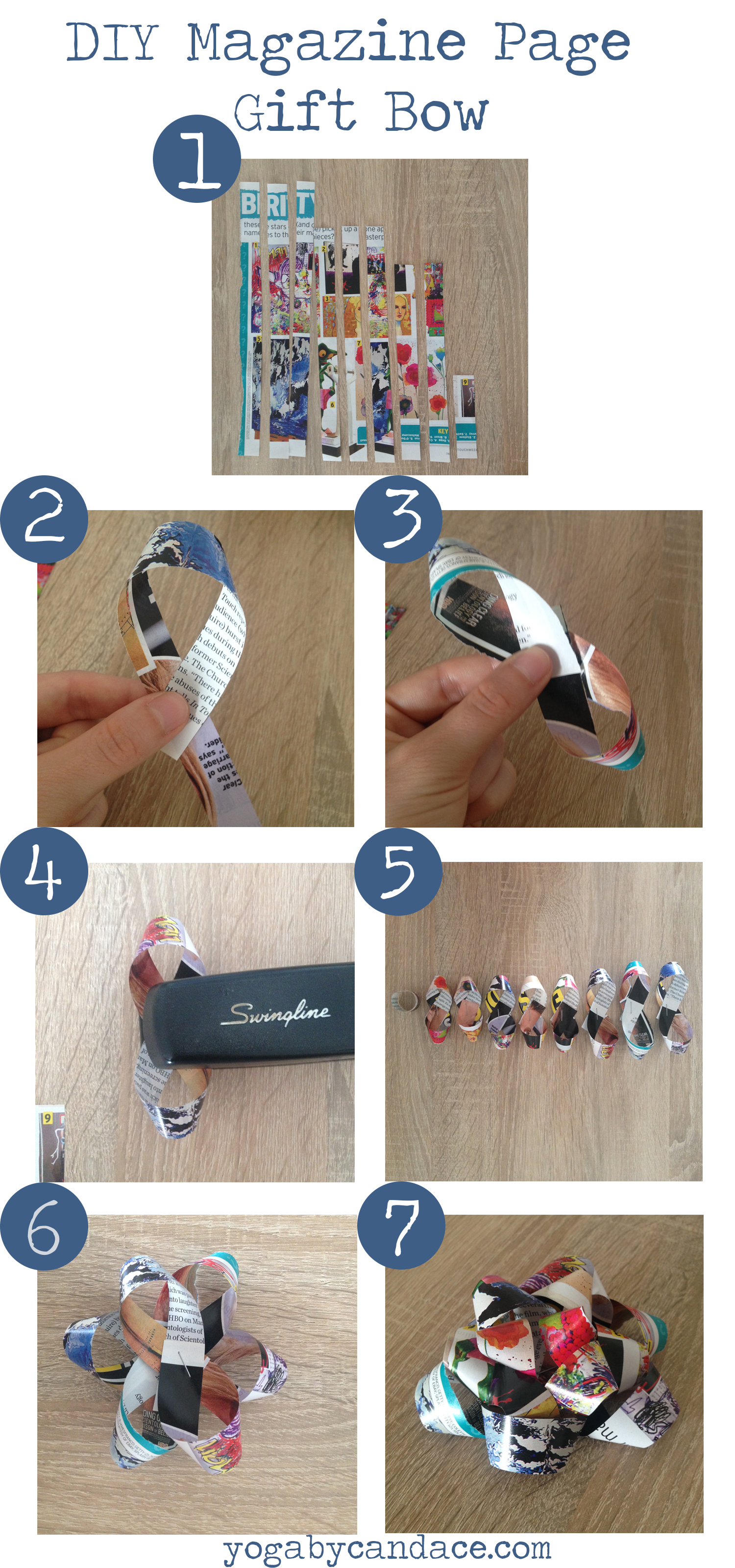 Pin now, make later - DIY Magazine Gift Bow