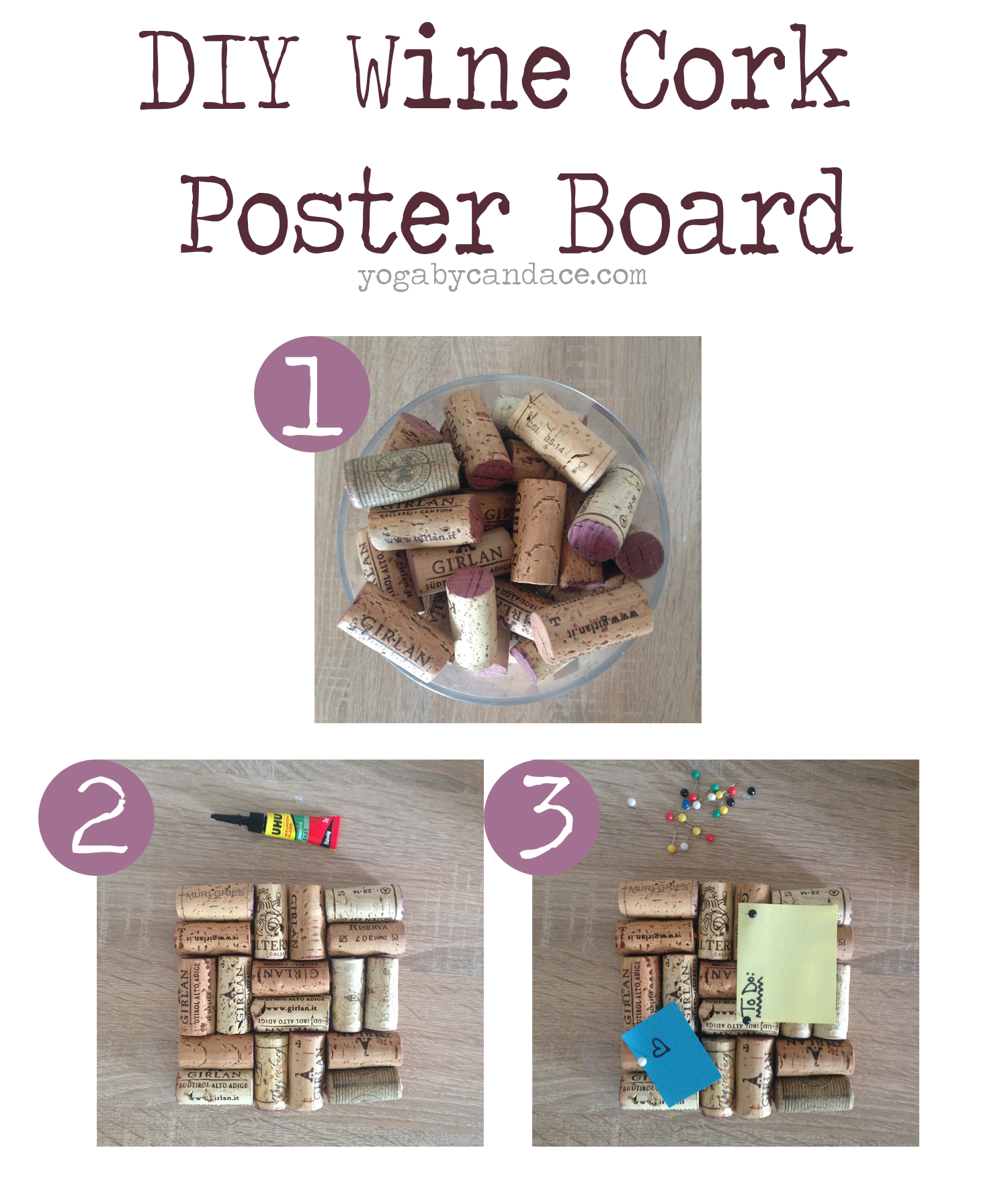 Pin now, make later - DIY Wine Cork Poster Board