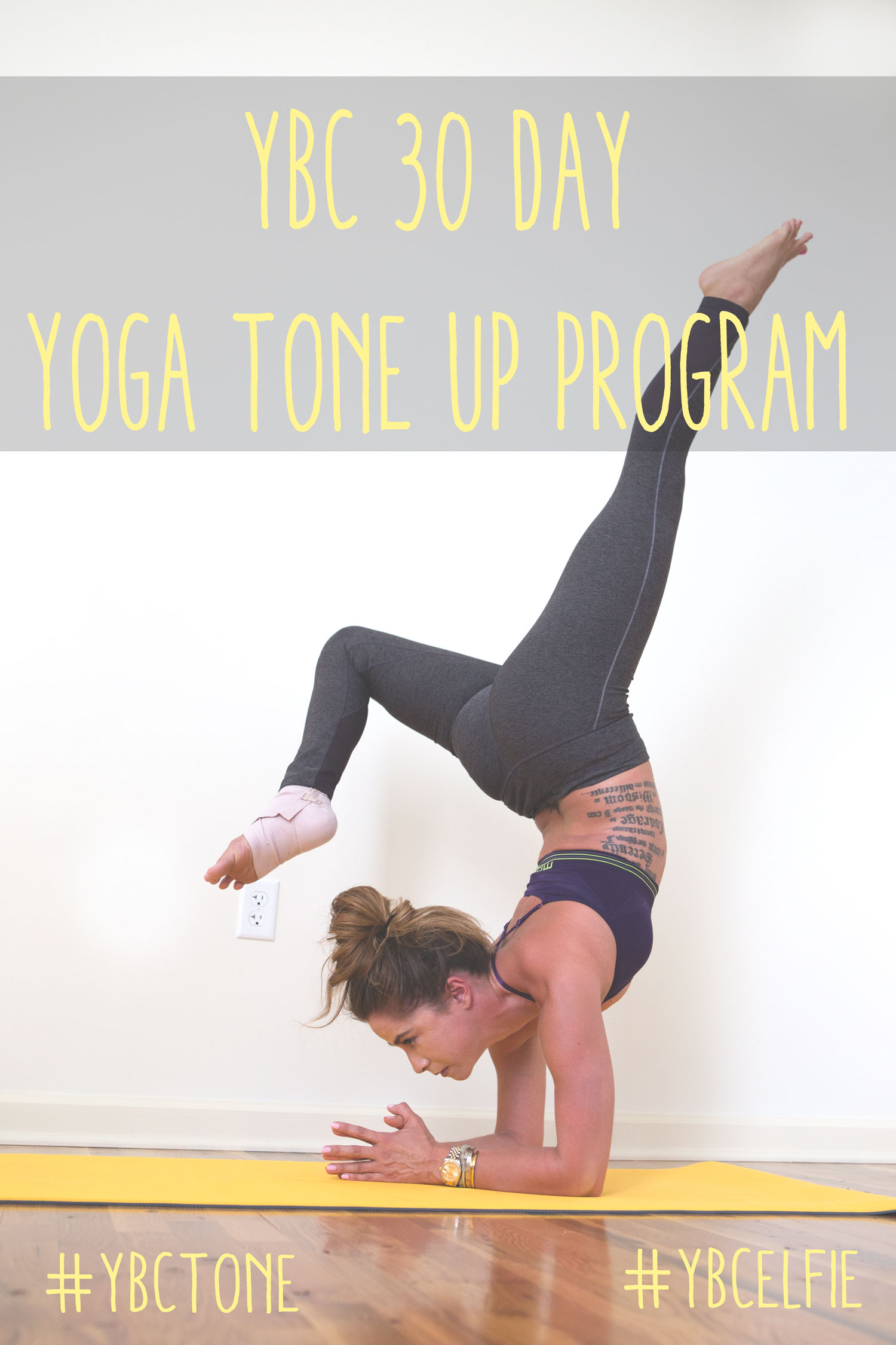 Pin now and join in on our 30 day tone up program through yoga!  Wearing: MPG leggings ( similar ) and bra c/o. Using  lole mat .