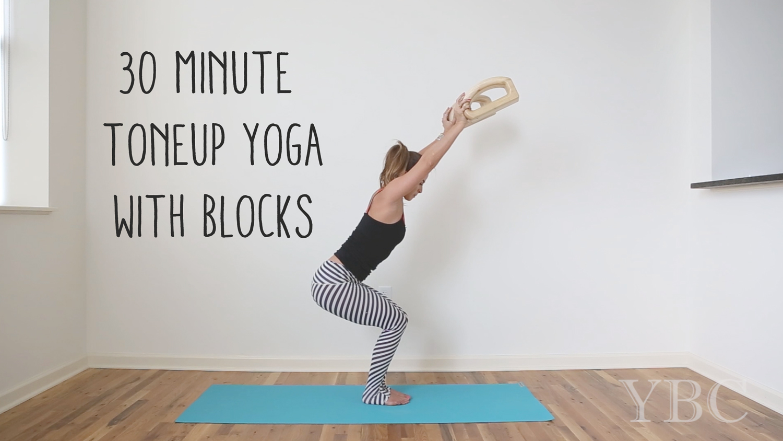 Pin now, practice later! 30 min yoga tone up with blocks  Using:  Jade yoga mat . Wearing:  teeki pants .
