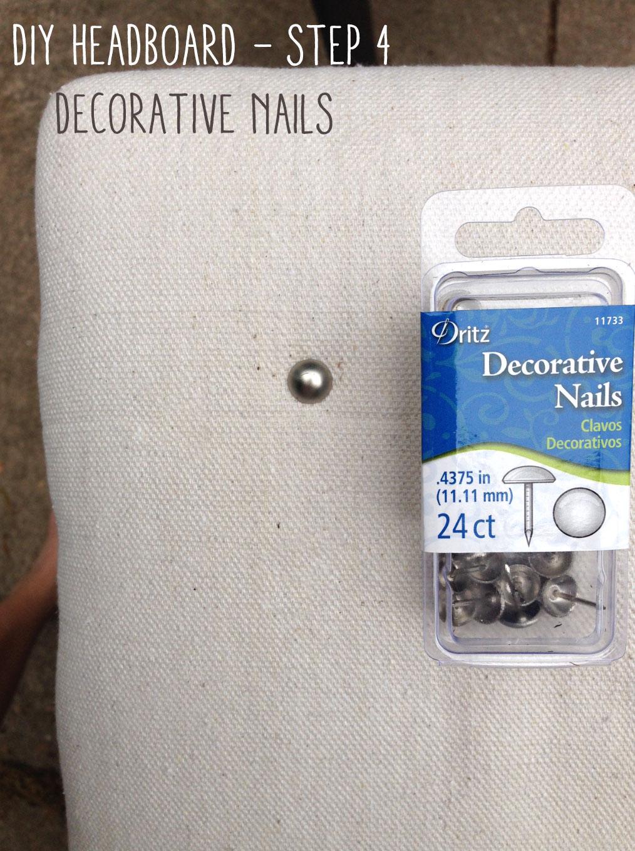 DIY Headboard - step 4, add decor.