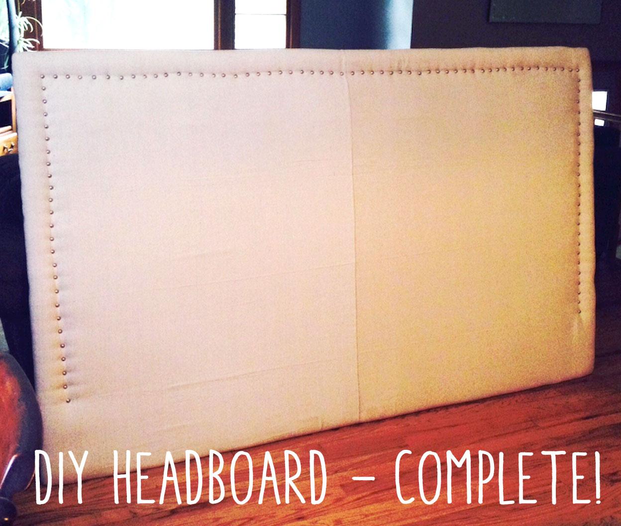 Completed DIY Headboard!