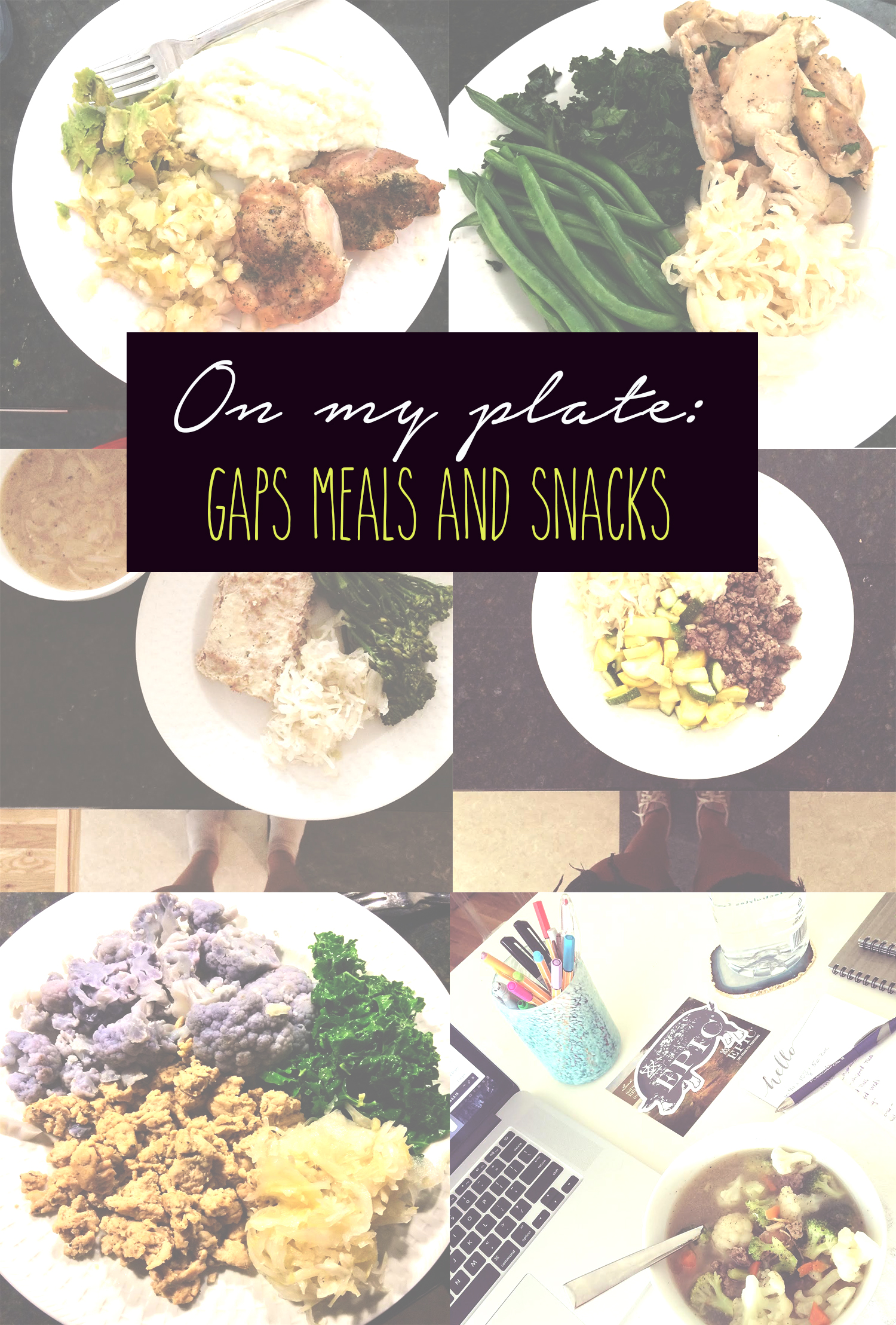 GAPS meals and snack ideas