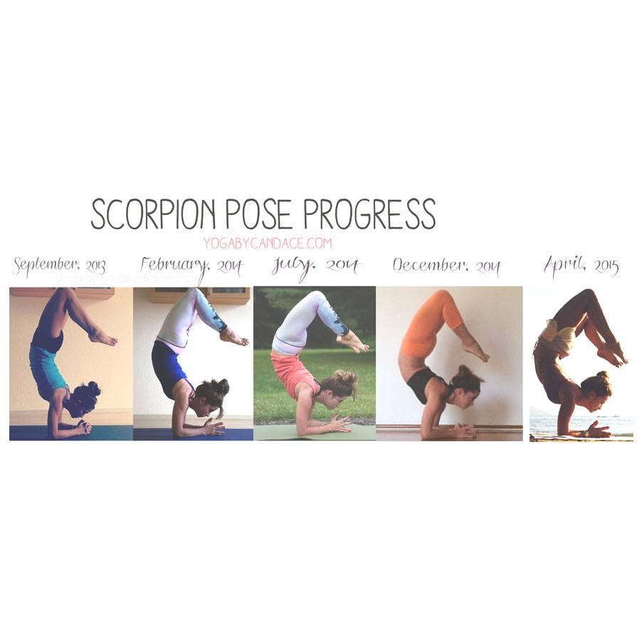 Scorpion pose progress