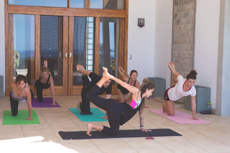 Morning yoga class in Costa Rica