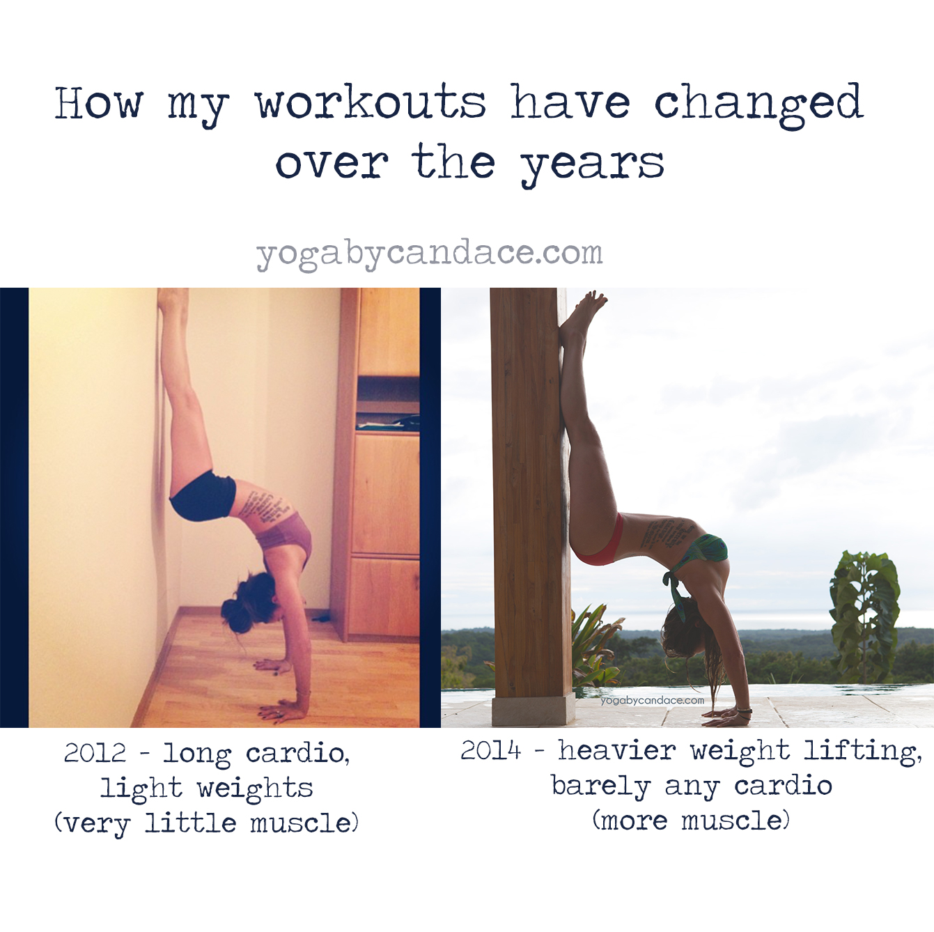 How my workouts have changed over the years