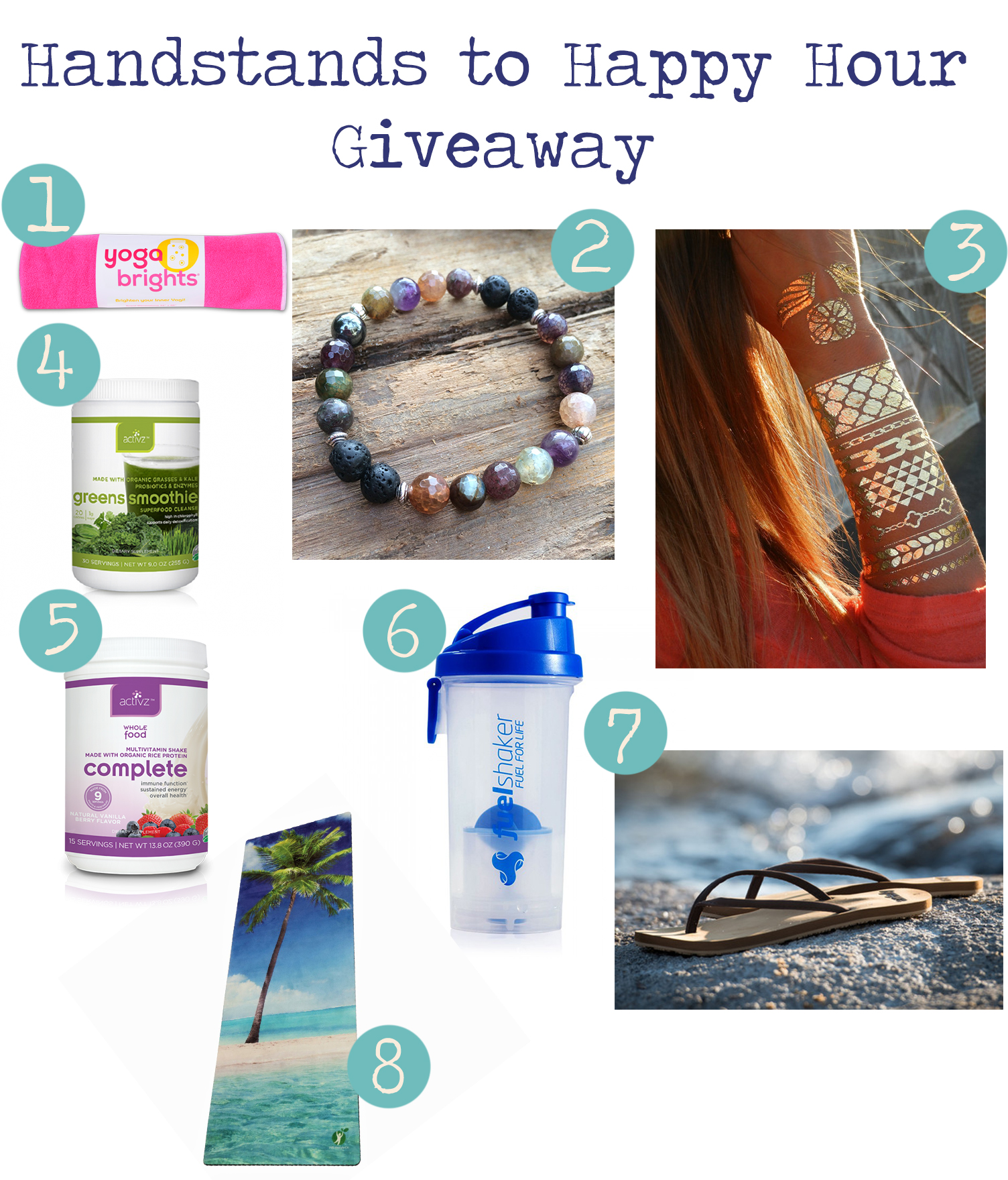 Pin now and enter to win our handstands to happy hour giveaway!