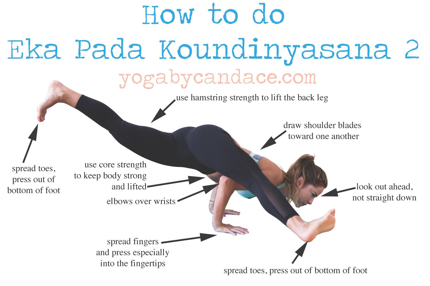 How To Do Eka Pada Koundinyasana 2 Yogabycandace
