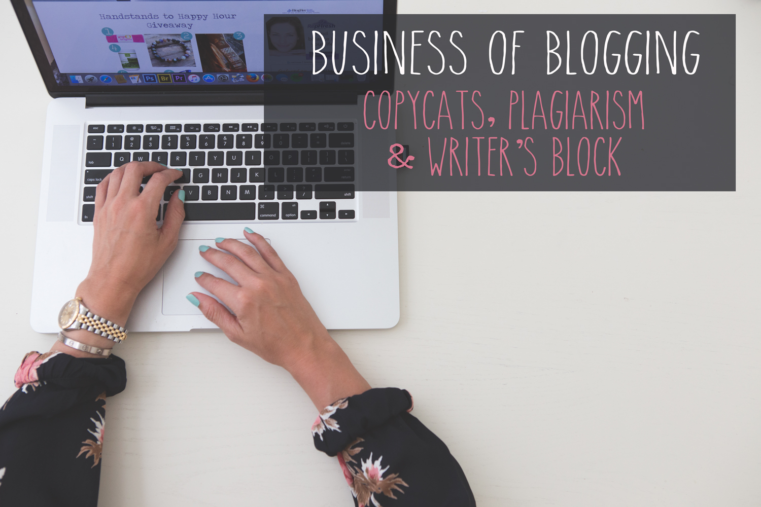 Pin now and learn how to deal with blog copycats, plagiarism and writer's block  Wearing:  Blue Life romper ,  mint candy apple nail polish