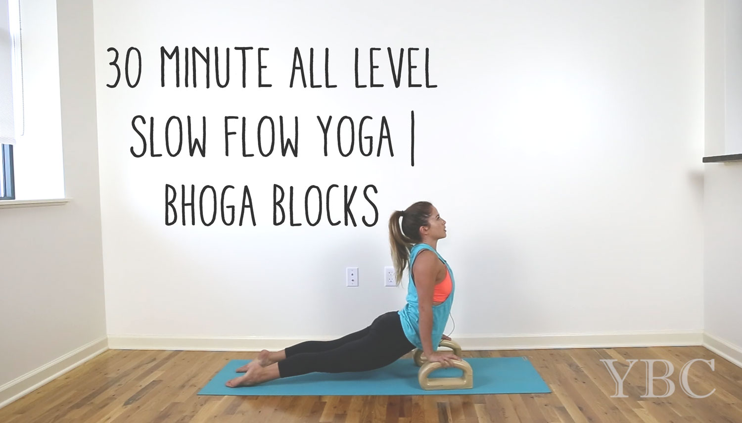 Pin now, practice yoga later! Free 30 min slow flow yoga class with blocks.  Wearing:  alo yoga top ,  onzie bra ,  hardtail forever leggings . Using:  jade yoga mat .