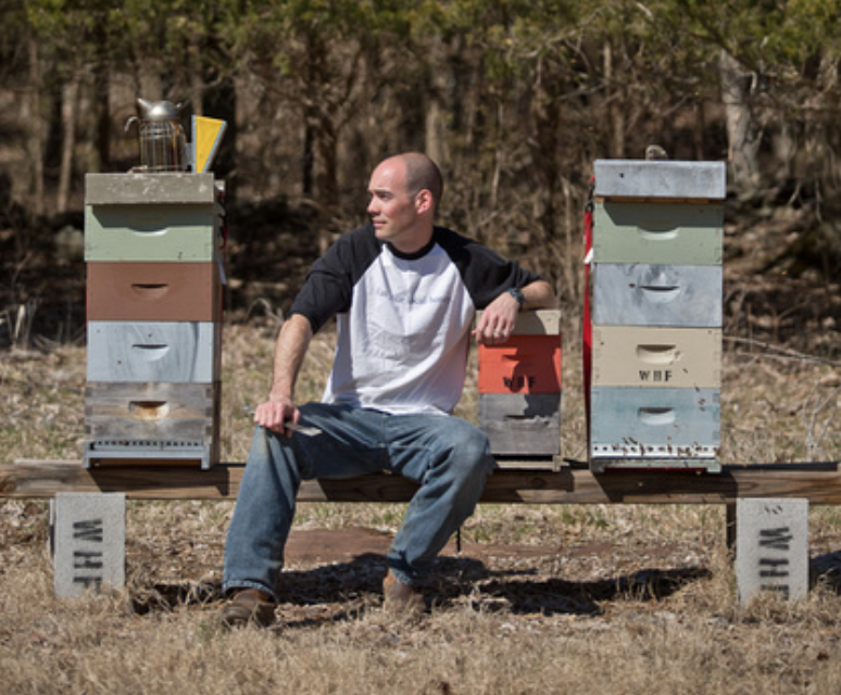 Jay Williams owner of  Williams Honey Farm