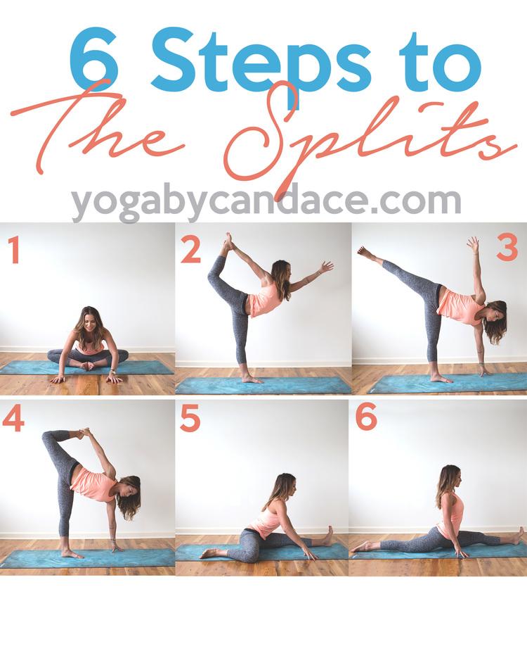 6 Steps to The Splits — YOGABYCANDACE