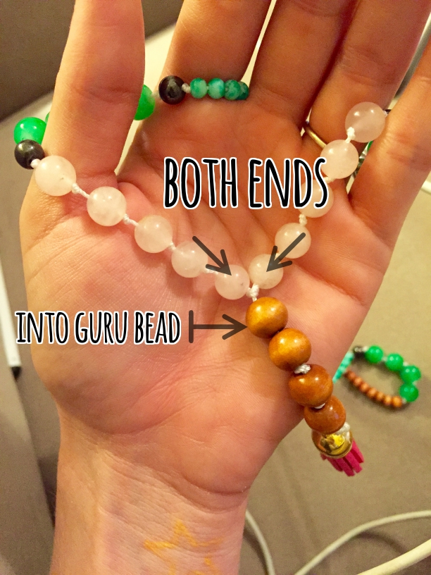 how to place your guru bead