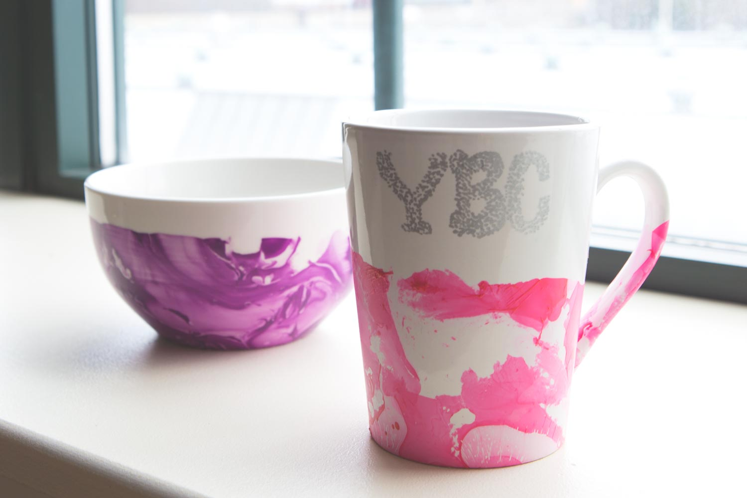 DIY Marbled Dishes