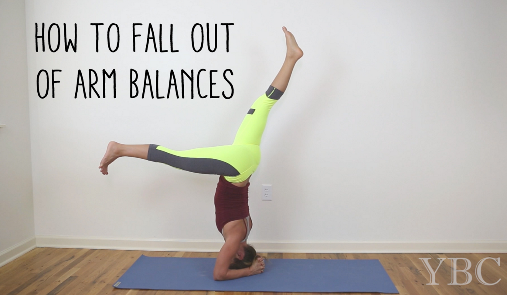 Pin now and practice later - how to safely fall out of arm balances.