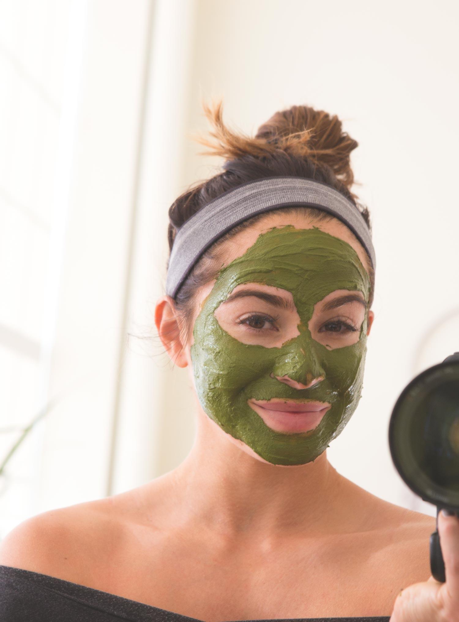 DIY Probiotic Matcha Mask