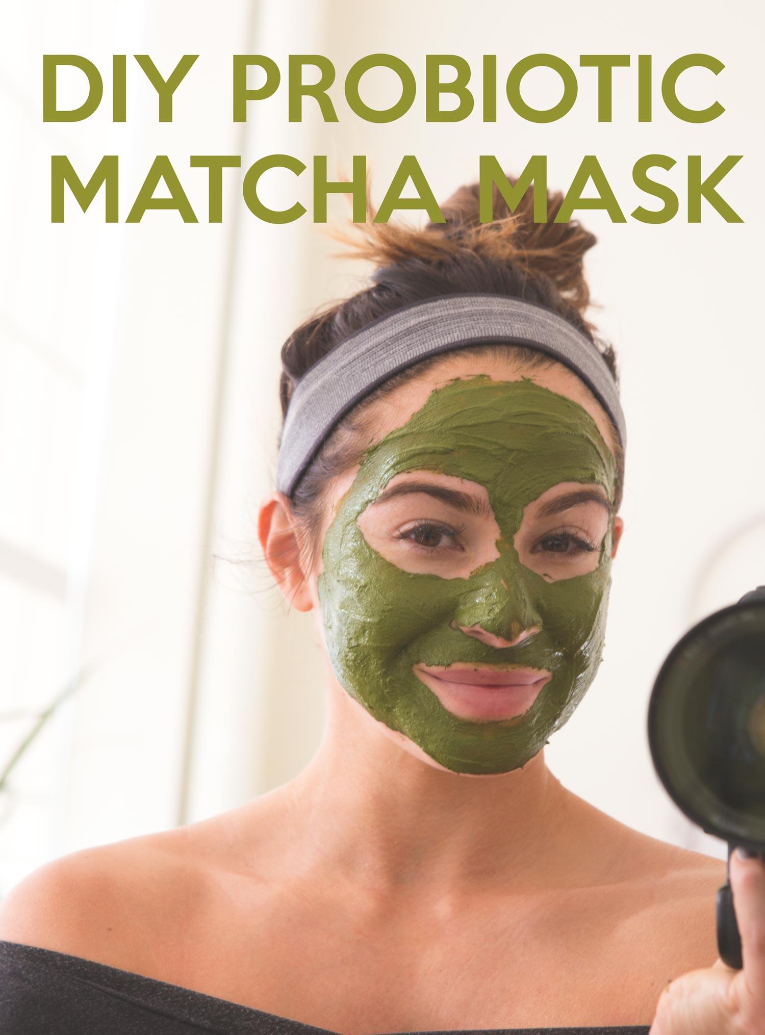 Pin it! DIY Probiotic Matcha Mask