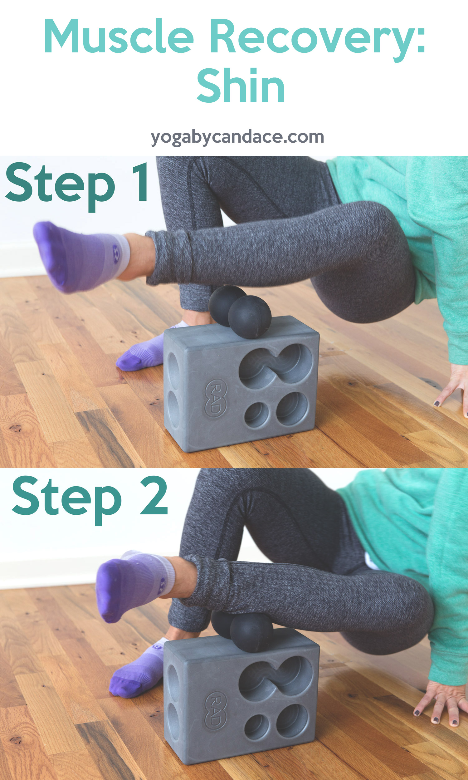 Pin now! Muscle recovery for shins.  Wearing: Lettuce be friends sweatshirt , candy yum yum lipstick . Using  RAD Block and  RAD Roller