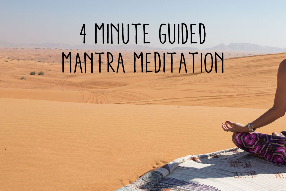 Pin now, practice later - 4 minute guided mantra meditation