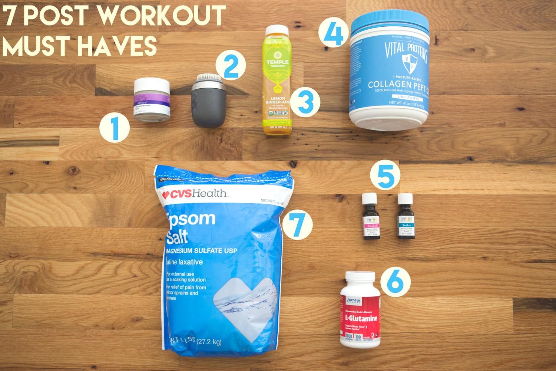 my 7 post workout essentials