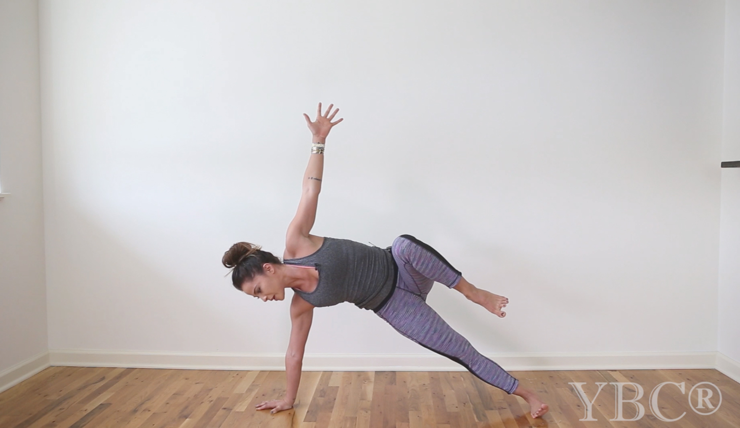 Pin now, practice later - 20 minute creative no-mat yoga class  Wearing:  sweaty betty tank  and  pants .