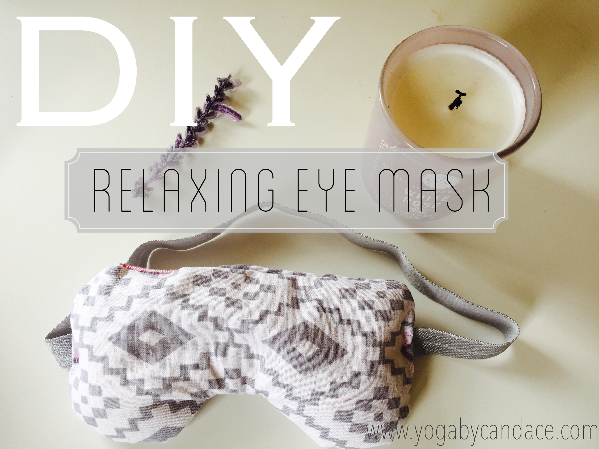 pin now and make it later - diy eye mask