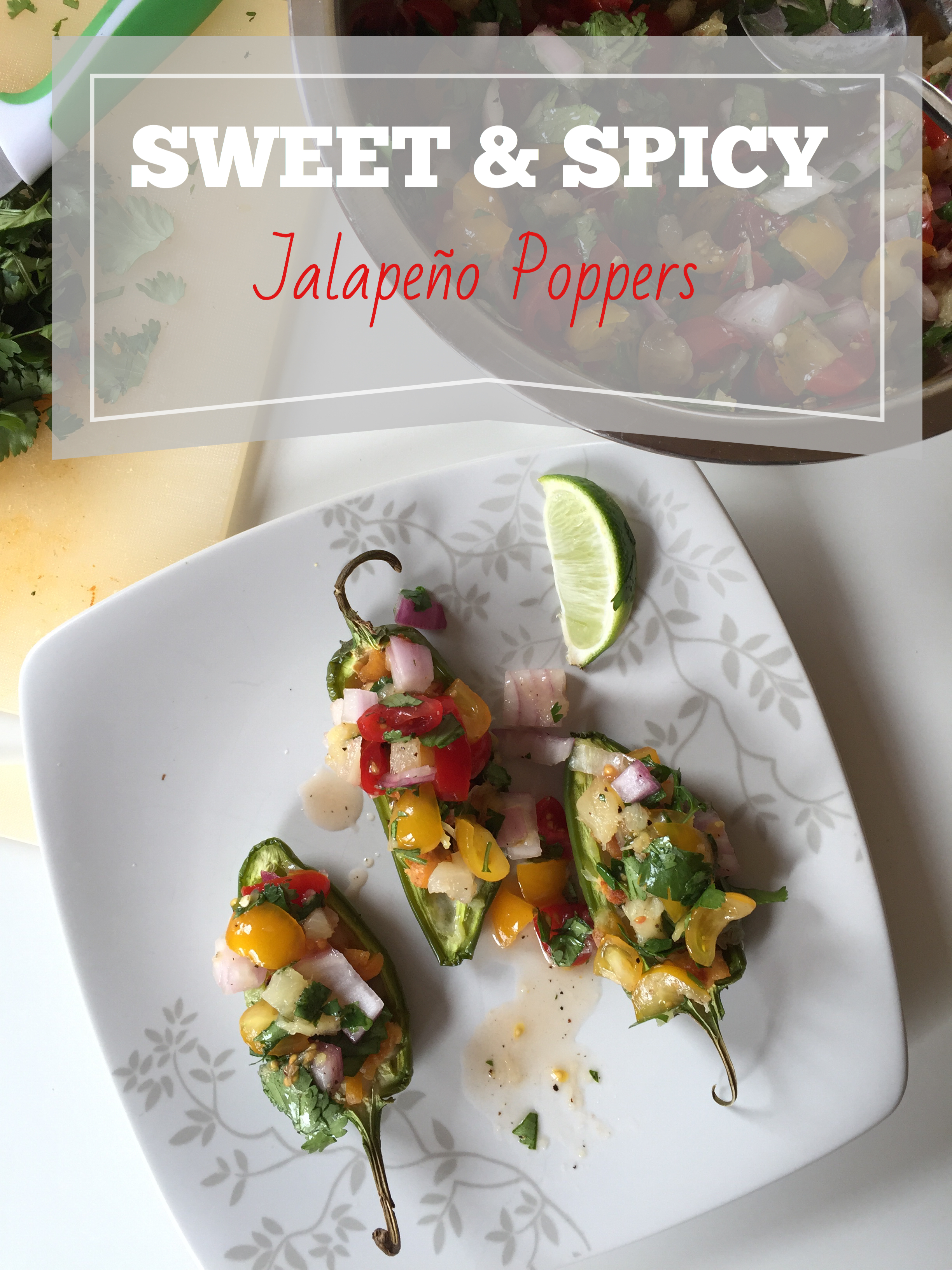 Pinterest Cover Photo - Sweet and Spicy Poppers