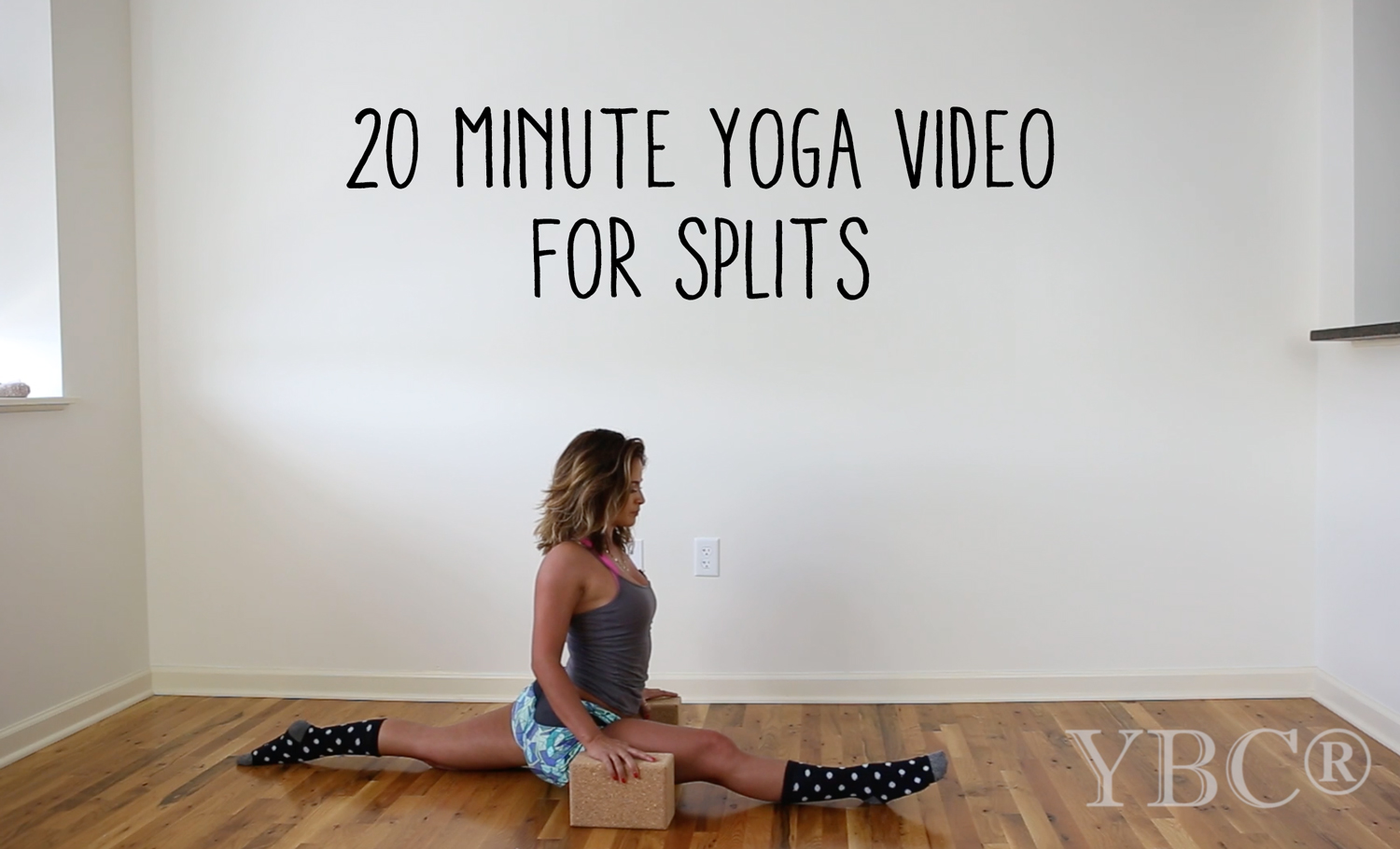 Pin now, practice later - a yoga video for splits.   Wearing:  Maaji shorts  ,  forever21 tank  , j crew socks (  similar on sale  ).