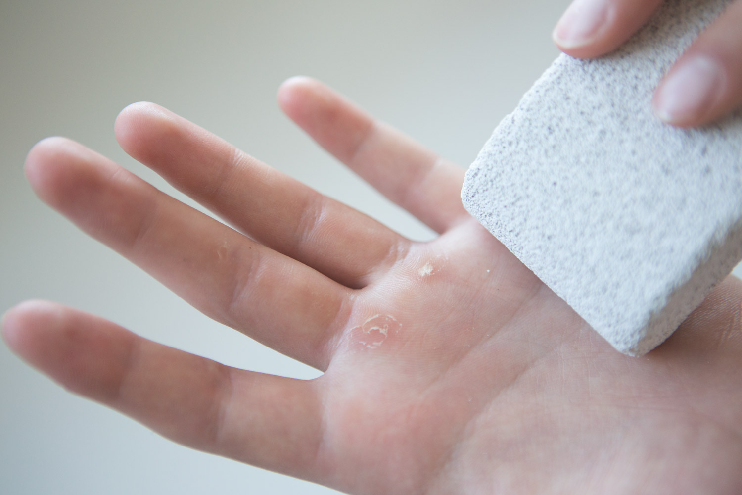 Pumice stone for the hands
