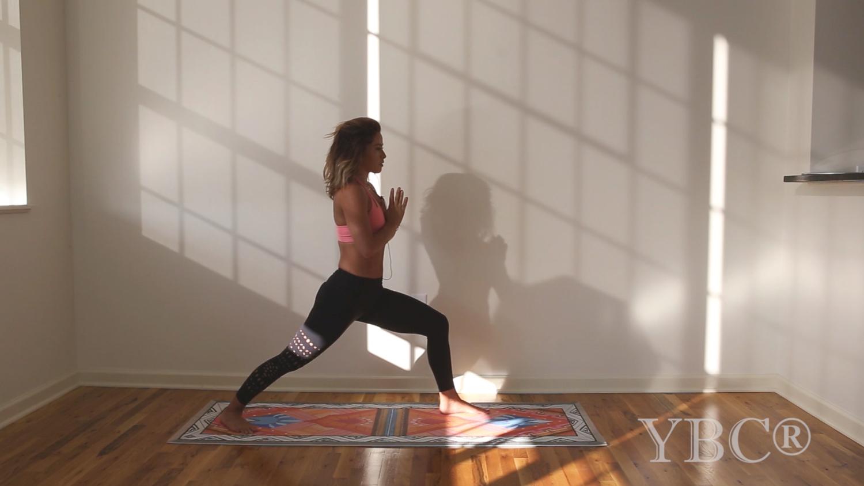 Slow flow vinyasa yoga  Wearing:  Kira Grace leggings  c/o
