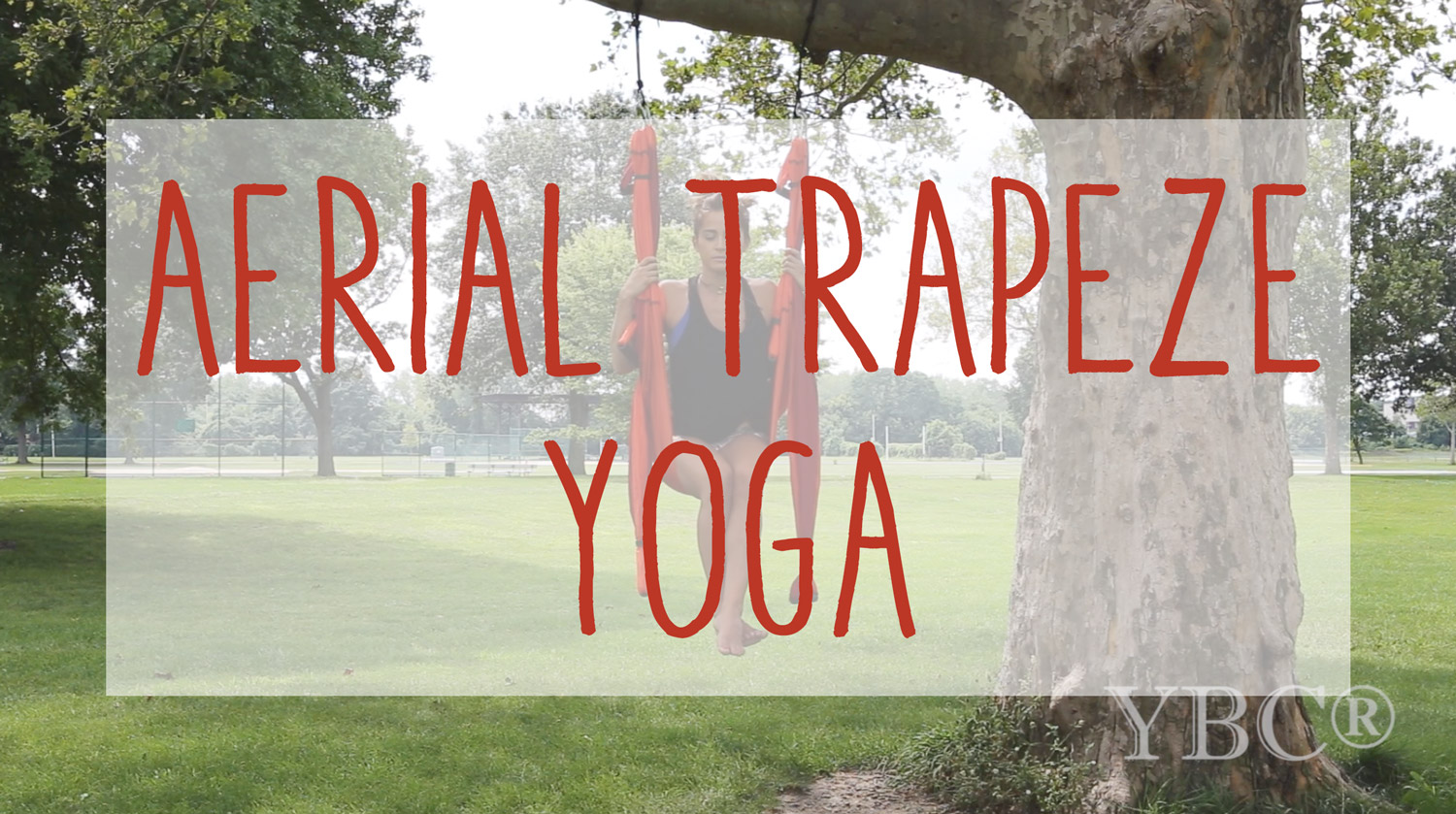 Pin now and practice later - free aerial trapeze yoga video