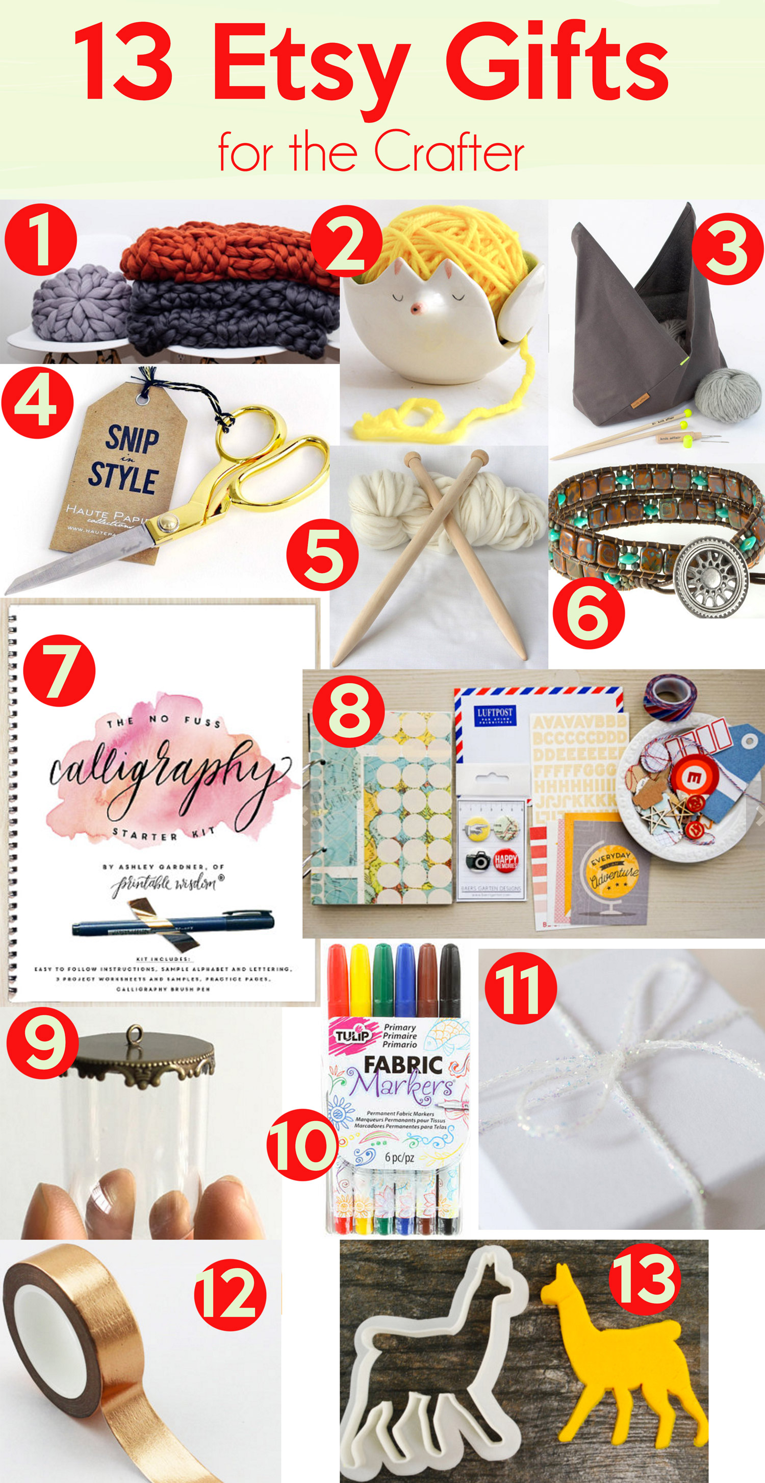 13 Etsy Gifts for the Crafters on your list