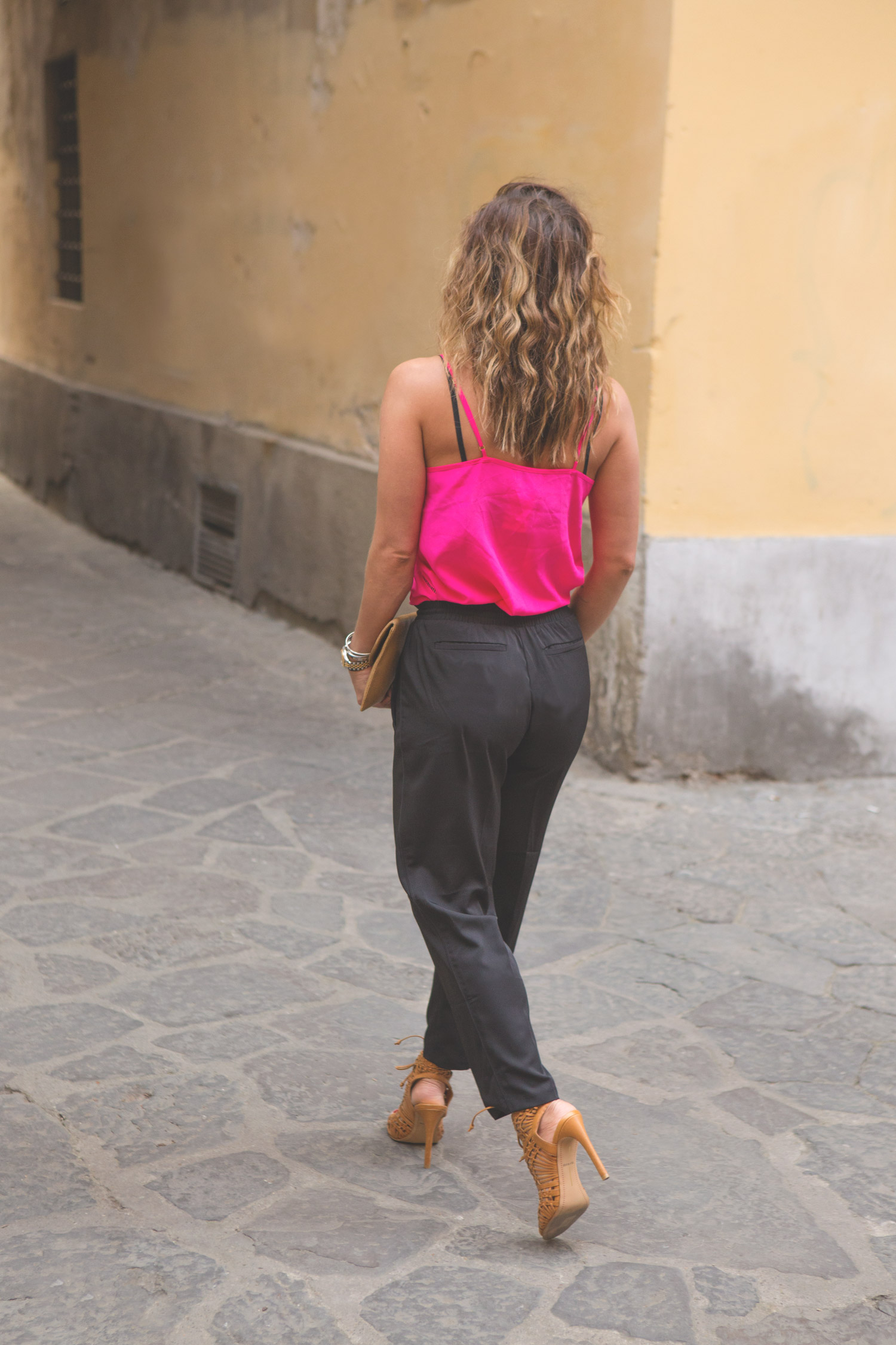 Joggers and heels