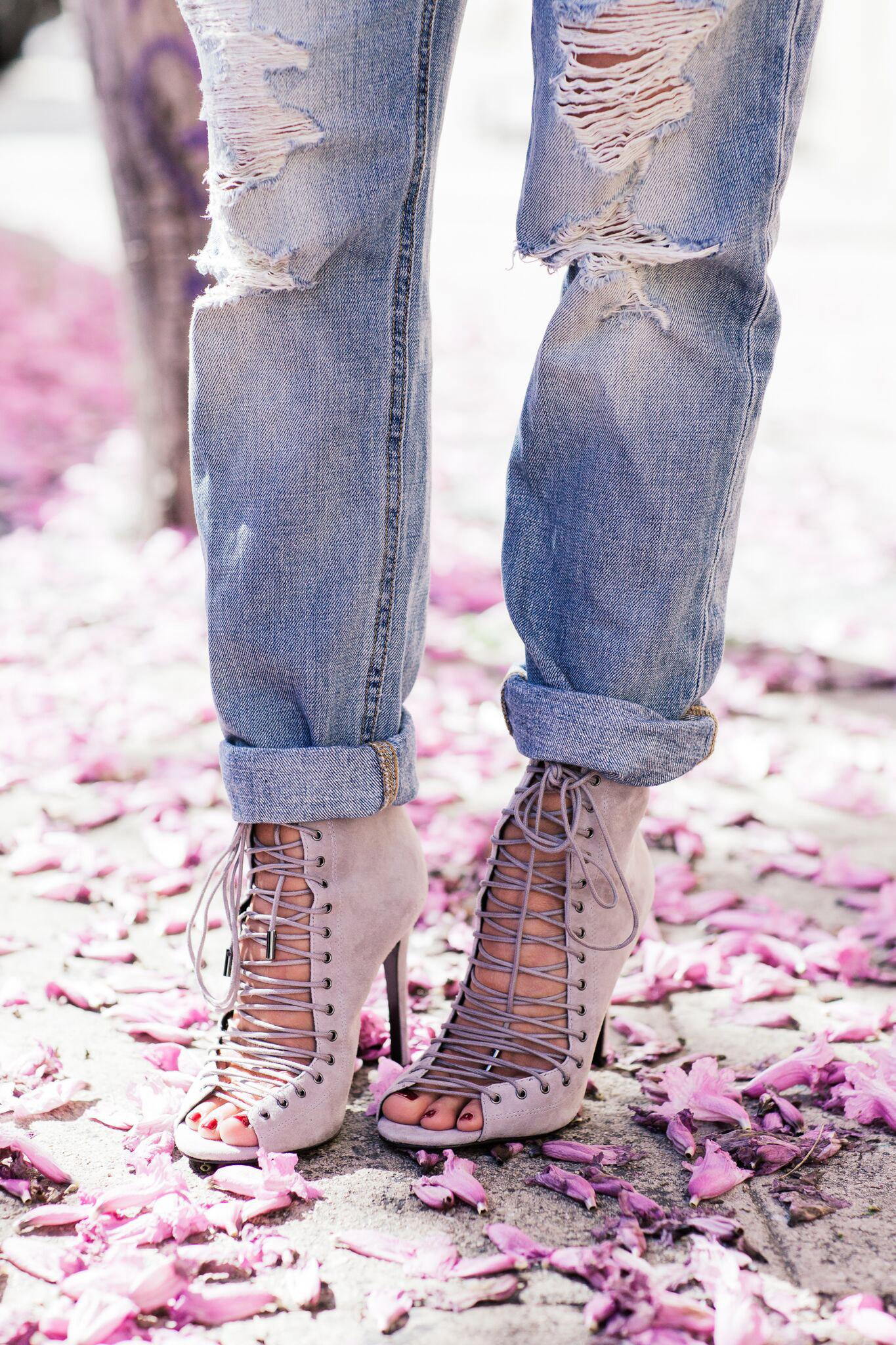 Heels and boyfriend jeans