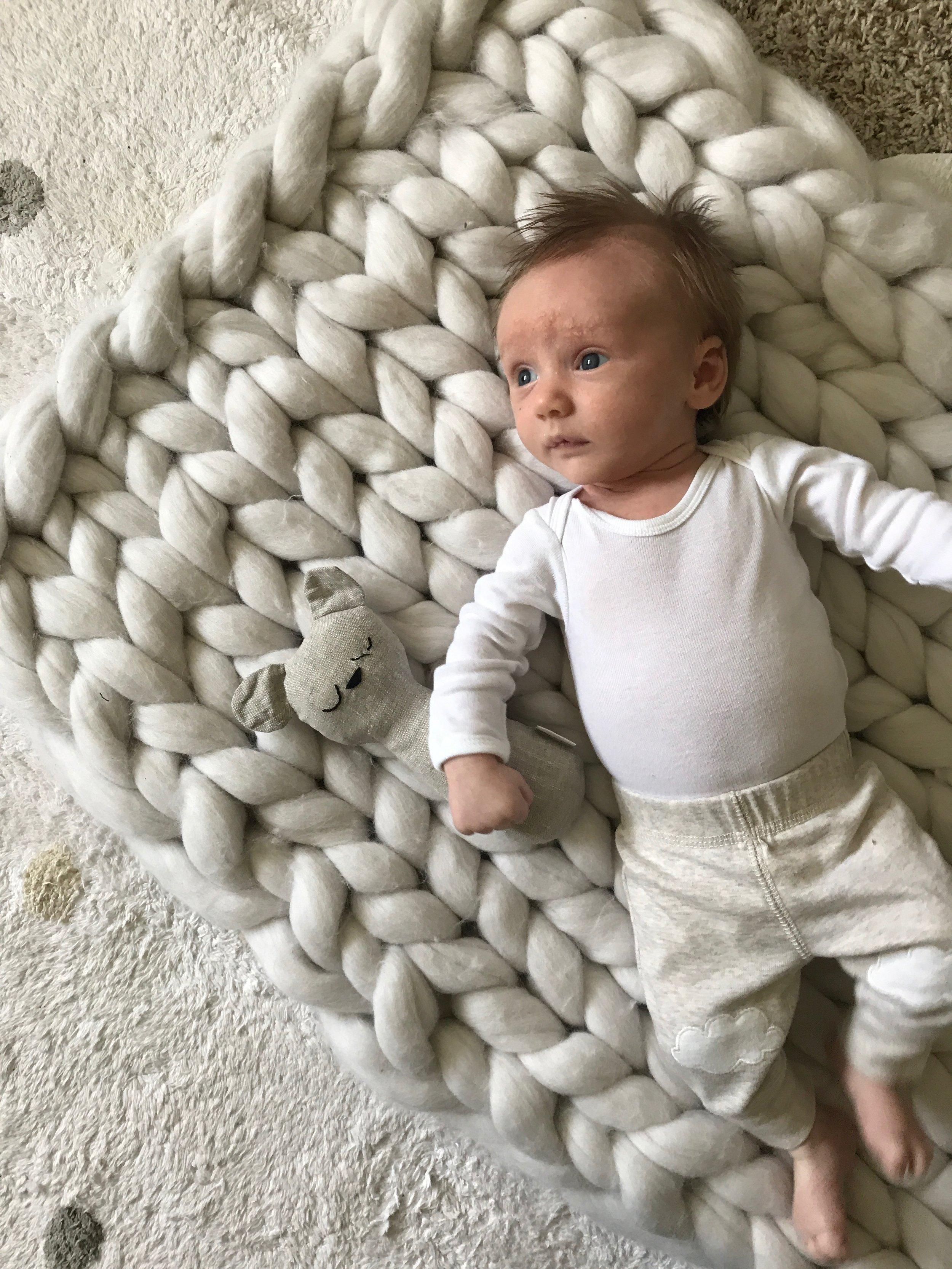 Woolly Cloud  Merino Wool Blanket II  Tuk + Milo  Rattle