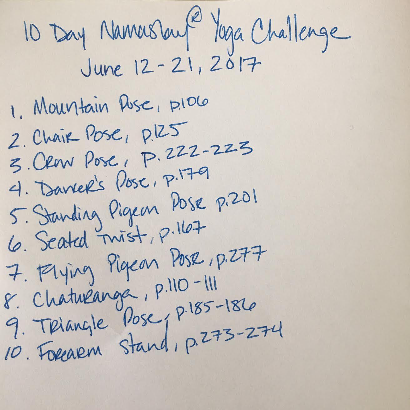 10 Day Namaslay Challenge